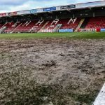 A football pitch goalmouth