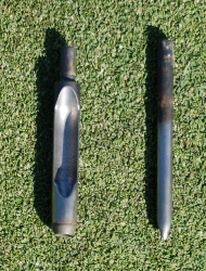 Hollow and solid aeration tines