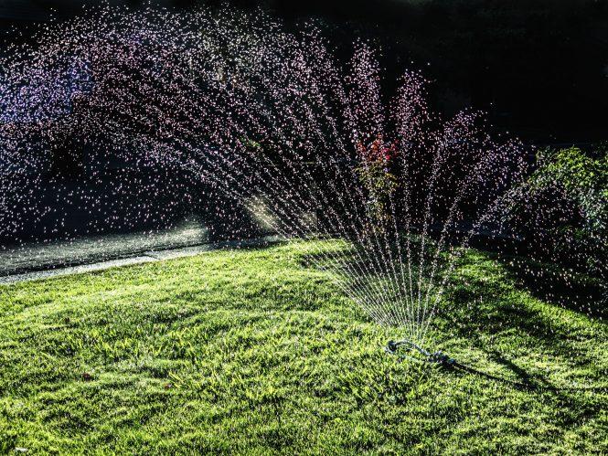 A Lawn Sprinkler